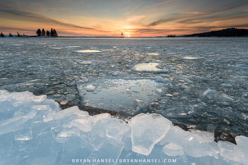 Ice, Sunset, and Grand Marais