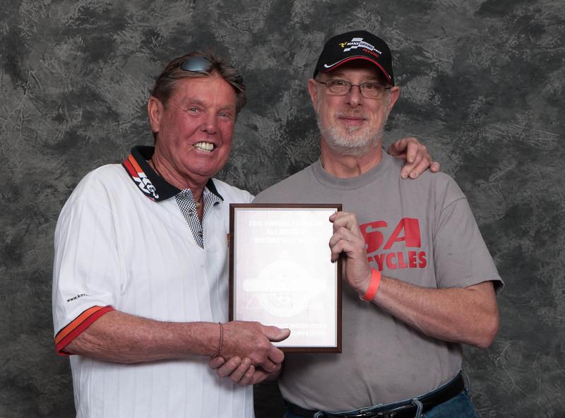 Ron Halem, Winner of the AHRMA Competition Roadrace Award - 1960 BSA Gold Star Manx Racer