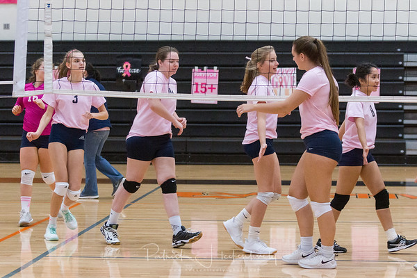 2019-10-19 Hillsdale Academy Varsity Volleyball at Jonesville Tournament