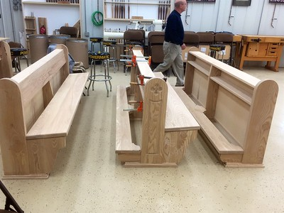 79 Pews for St. Thomas Aquinas with Brother Mark