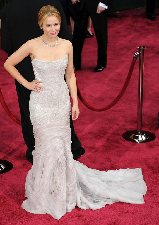 . Kristen Bell attends the 86th Academy Awards at the Dolby Theatre in Hollywood, California on Sunday March 2, 2014 (Photo by John McCoy / Los Angeles Daily News)