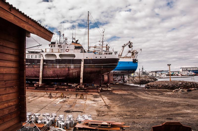 2016.05.19 - Reykjavik, Iceland. Dry docked boats.