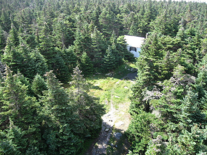 Fire watcher cabin on top of Stratton Mountain