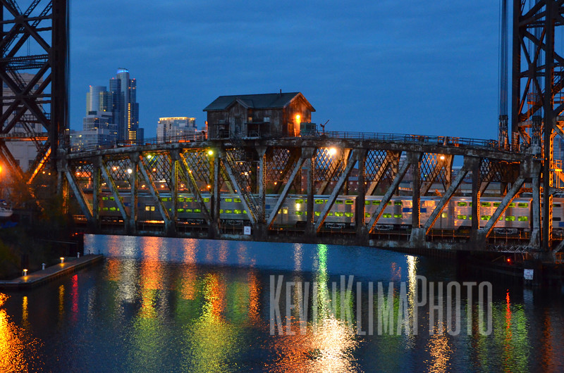 Lift bridge in Chicago's Chinatown