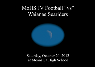 "10-20-12 Moanalua JV Football ""vs"" Waianae Seariders (0-27)"