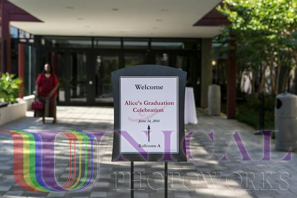 Pump & Fanfare Graduation Celebration in honor of Alice=Darlene Cisco, Hosted by Mr. Tony Cisco Jr. and Ms. Cecilia Cheah, Landsdowne Resort, Leesburg, VA June 14, 2014 at 6:00PM