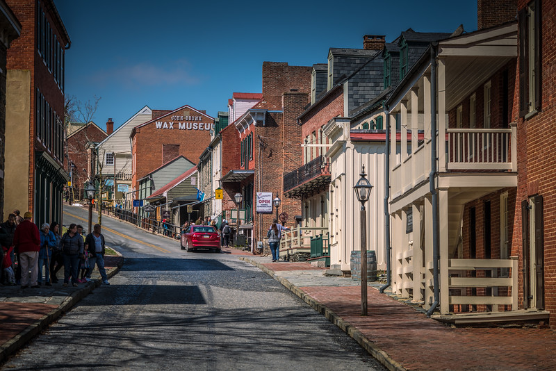 Harper's Ferry WV - View of High Street from the intersection with Shenandoah Street.