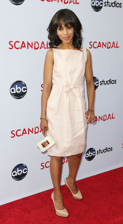 ". NORTH HOLLYWOOD, CA - MAY 16:  Actress Kerry Washington attends  Academy of Television Arts & Sciences\' Presents an Evening with ""Scandal\"" at the Leonard H. Goldenson Theatre on May 16, 2013 in North Hollywood, California.  (Photo by Frederick M. Brown/Getty Images)"