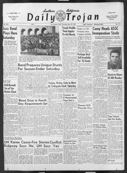 Daily Trojan, Vol. 43, No. 51, November 29, 1951