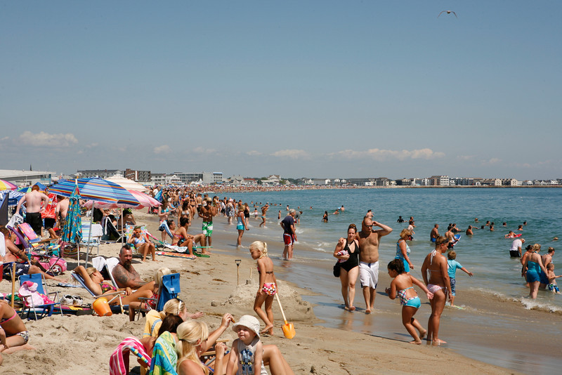 Hampton Beach, NH (On a Wednesday - at noon) You should see this place when it's busy.....