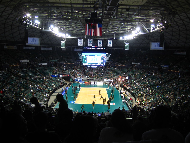 Hawaii - Wahine Volleyball Game-1.JPG