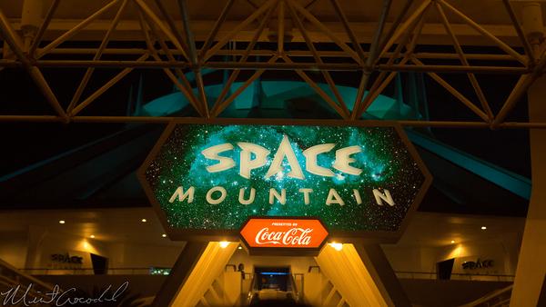 Disneyland Resort, Tokyo Disneyland, Tomorrowland, Space Mountain, Night