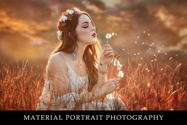 Material portrait photography