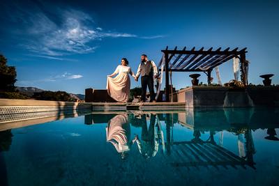 October New Mexico family backyard wedding