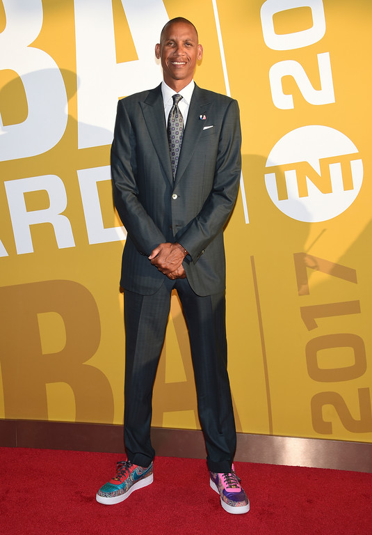 . Reggie Miller arrives at the NBA Awards at Basketball City at Pier 36 on Monday, June 26, 2017, in New York. (Photo by Evan Agostini/Invision/AP)