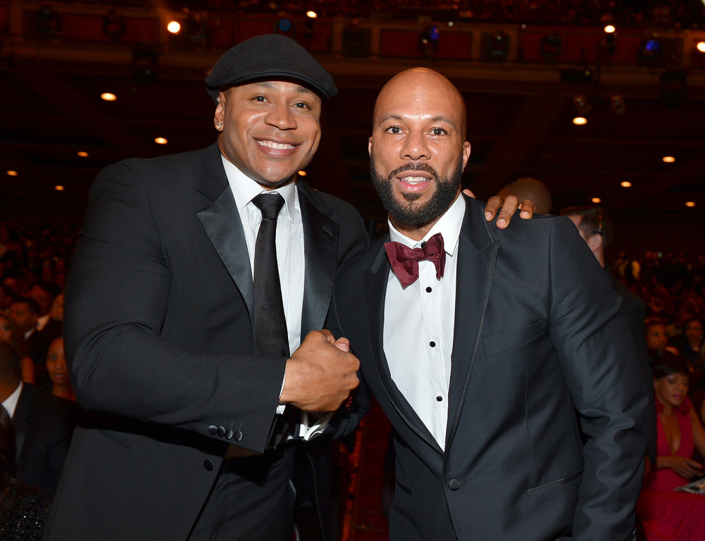 . LOS ANGELES, CA - FEBRUARY 01:  LL Cool J (L) and Common attend the 44th NAACP Image Awards at The Shrine Auditorium on February 1, 2013 in Los Angeles, California.  (Photo by Alberto E. Rodriguez/Getty Images for NAACP Image Awards)