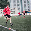 Gibraltar national team training at Victoria Stadium before departing for Bosnia