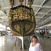 Angie with the Royal Burgandy, a ship built by Queen D. Maria I, for the betrothal of her son, the future D. João VI, with Princess Carlota Joaquina, which took place in 1784. Museu de Marinha (Navy Museum), Lisbon, Portugal.