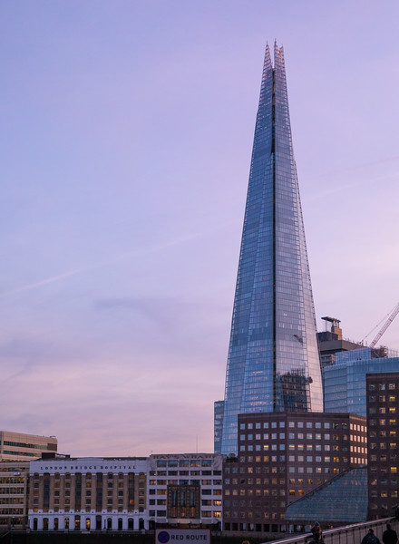 The Shard - the tallest building in England (and Europe) today.  1,016 feet tall.