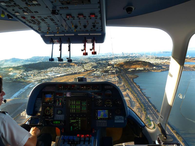 Above Brisbane, headed to San Francisco.