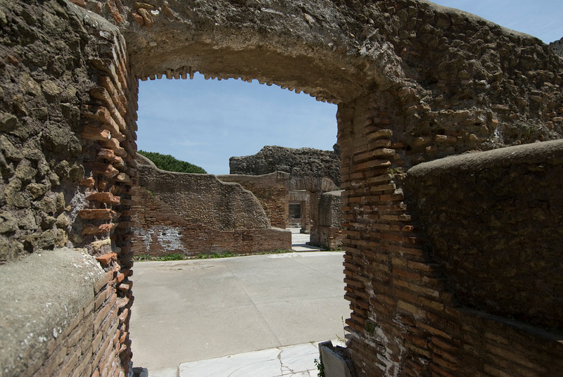 Old doorway at Ostia Antica, Italy