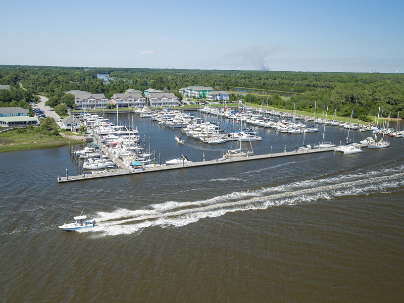 Marina landscape on the Intracoastal Waterway