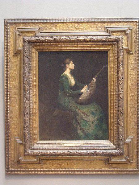 Lady with a Lute by Thomas Dewing