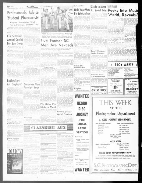 Daily Trojan, Vol. 40, No. 89, March 02, 1949