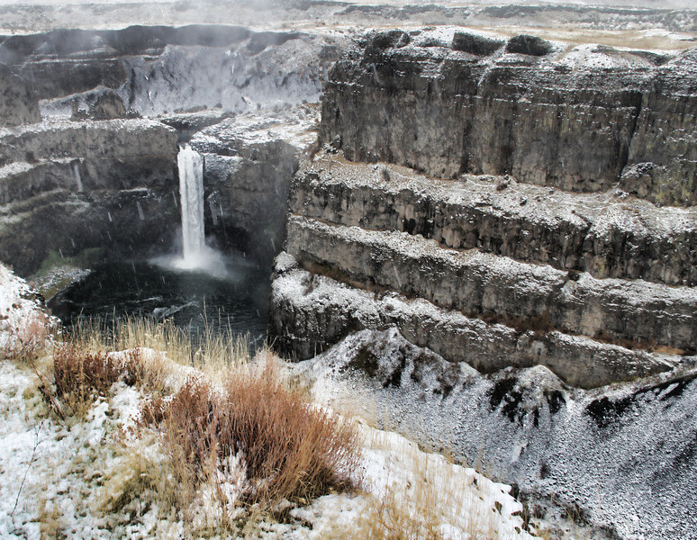 After the Snow, Palouse Falls, WA