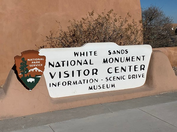 White Sands Visitor Center & drive to Las Cruces