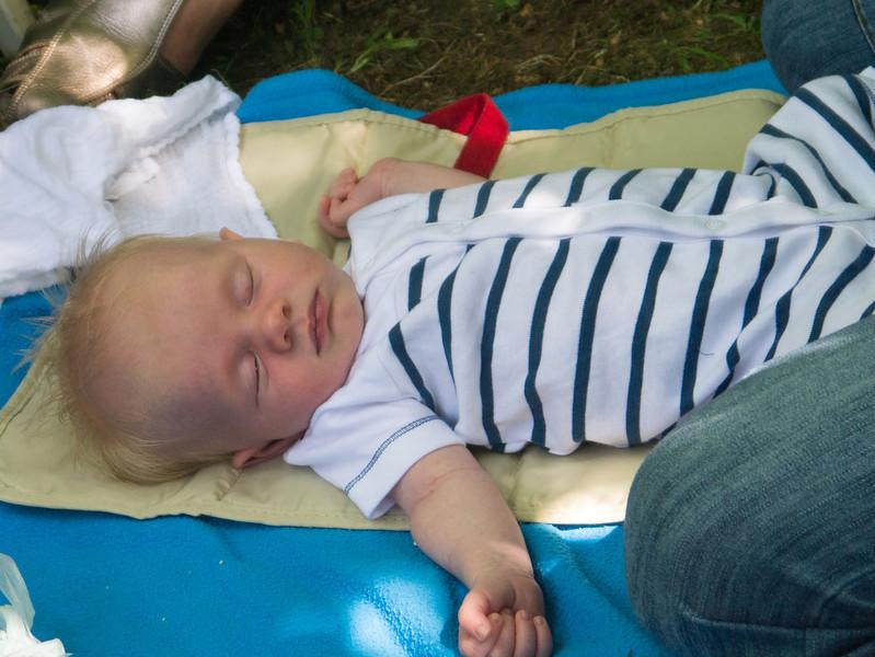 Arthur colin having a sleep in the sun