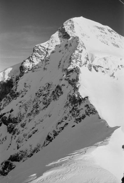 Mountain Peaks at Jungfraujoch, Switzerland