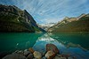 Lake Louise - Boulders and Emerald Water