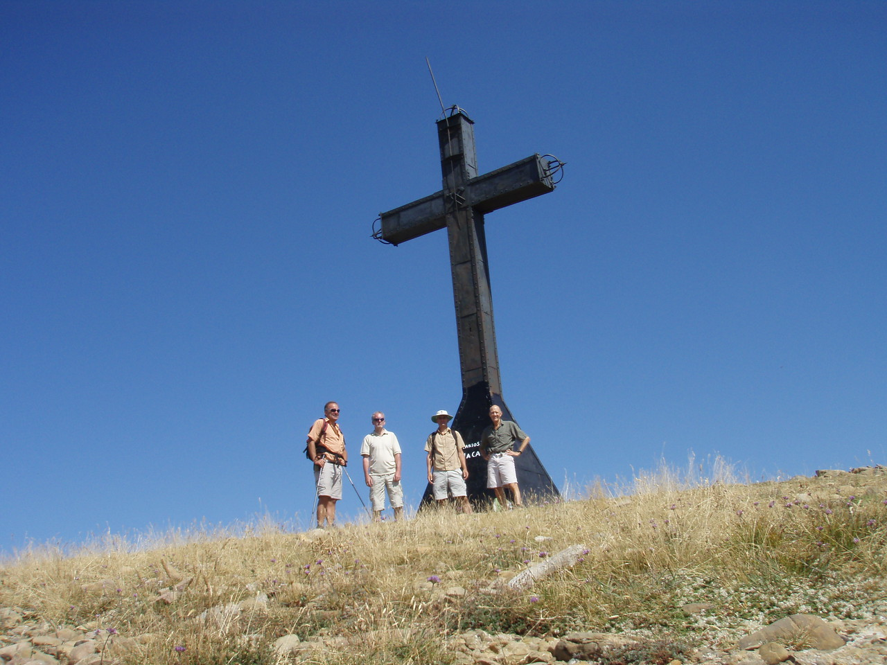 Large cross on Peña Oroel Jaca