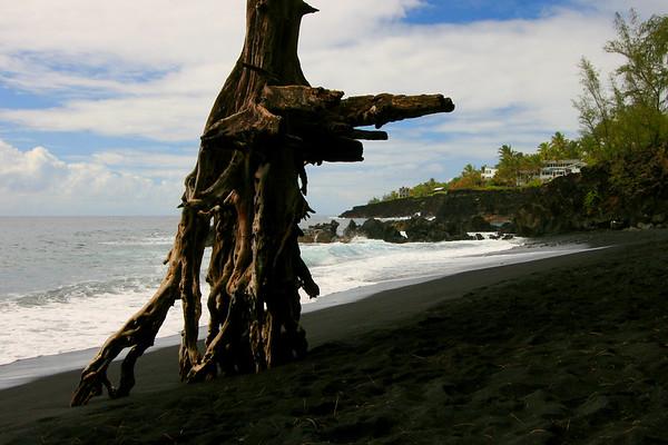 Kahena Black Sand Beach, Puna Coast