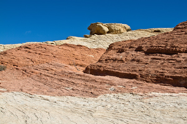 rocks in various shades of color, Red Rock Canyon