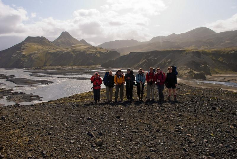 Hópmyndataka. Þorbjörg, Ragnheiður, Berglind, Magnea, Álfhildur, Pierre, Amandine og Erna