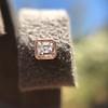 .52ctw Asscher Cut Diamond Bezel Stud Earrings, 18kt Rose Gold 10