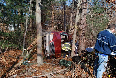 West Islip F.D. 2 MVA's w/ Overturns 1 South and 1 North (P.D. Involved) on the Robert Moses Causeway 1/20/10