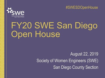 FY20 SWE San Diego Open House Presentation