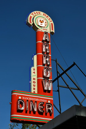 The Red Arrow Diner, Manchester & Milford, New Hampshire