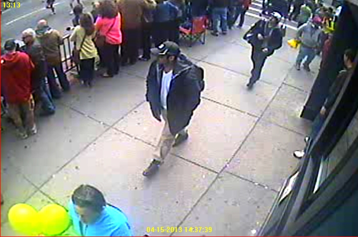 . Suspects wanted for questioning in relation to the Boston Marathon bombing April 15 are revealed in this handout photo during an FBI news conference in Boston, April 18, 2013.  REUTERS/FBI/Handout