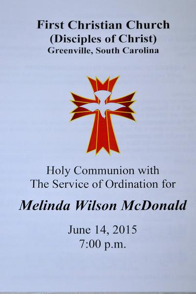 Melinda McDonald's Ordination