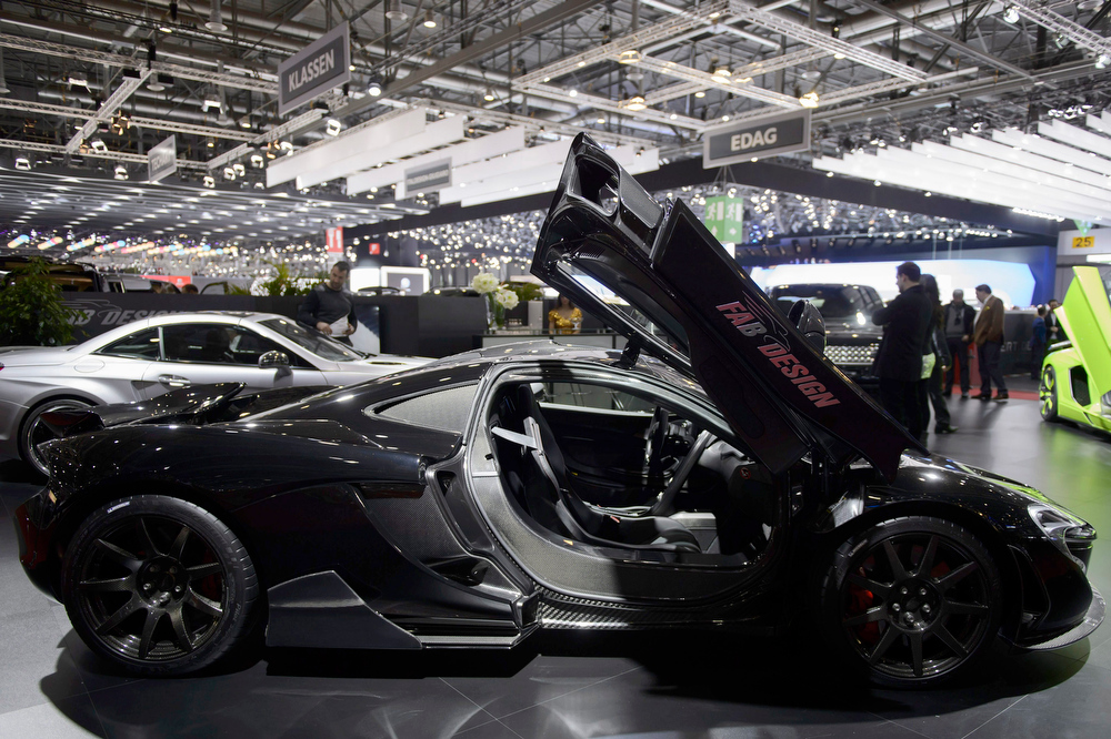 . The new Fab-Design McLaren P1 Executive is shown during the press day at the 84th Geneva International Motor Show in Geneva, Switzerland, 04 March 2014. The Motor Show will open its gates to the public from 06 to 16 March presenting more than 250 exhibitors and more than 146 world and European premieres.  EPA/MARTIAL TREZZINI