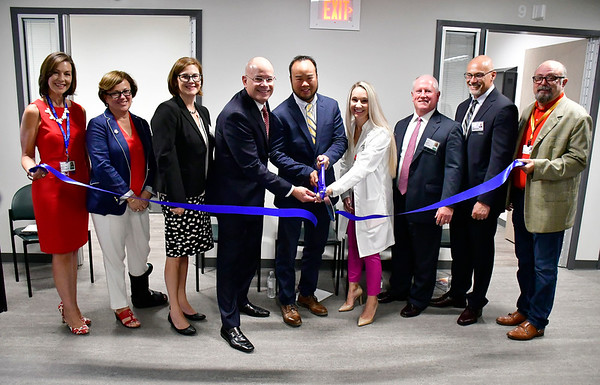 8/9/2019 Mike Orazzi | Staff The ribbon cutting for behavioral health unit at Bristol Hospital on Friday morning.