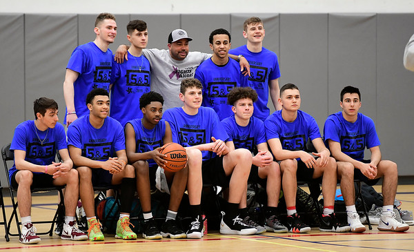 4/5/2019 Mike Orazzi | Staff Bristol High School Varsity Basketball players from Bristol Central, St. Paul Catholic High and Bristol Eastern during Friday's Bristol's All Star Basketball Game held at the Boys & Girls Club of Bristol Family Center on West Street.