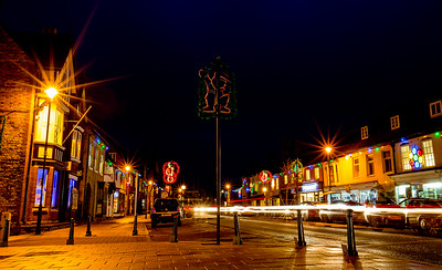 Shefford Town Christmas Lights and light trails