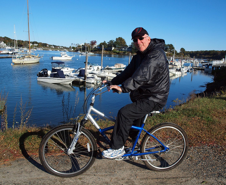 Bicycle trek into York Harbor