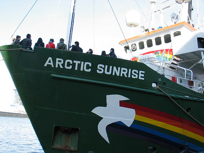 "Greenpeace ""Arctic Sunrise"" in London 11032007"