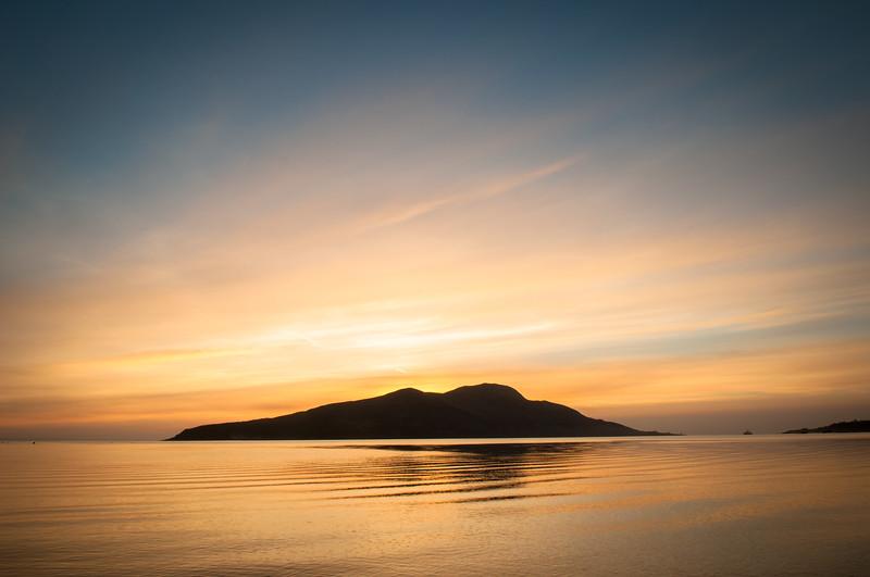 Sunrise at Holy Isle